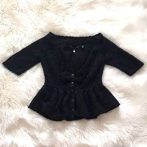 Knitted & Knotted Anthro Lambswool Peplum Sweater